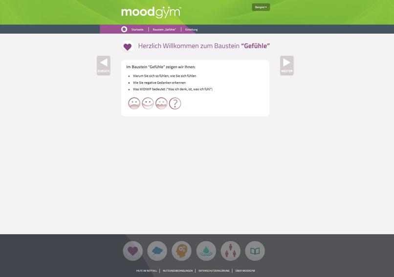Screenshot Baustein Gefühle